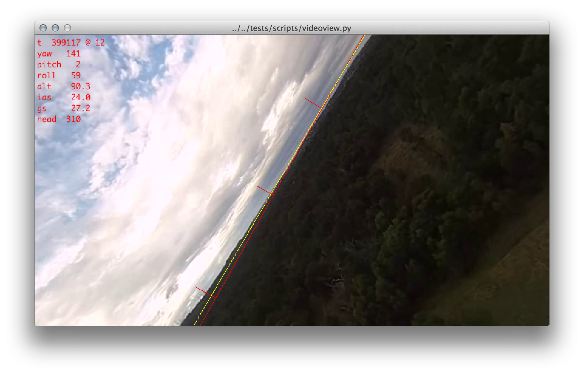 Horizon detection with OpenCV | 2013-07-22